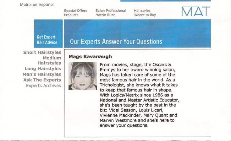 "Mags Kavanaugh Former ""Ask The Expert"" for Matrix and Logics hair color lines. www.AskMags.com"