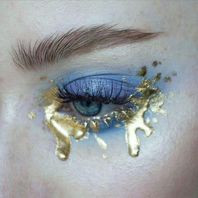 WEBSTA @ thesaraengel - s a n c t i f i e d | Products: @katvondbeauty Pastel Goth palette (dope, doom)   @mehronmakeup metallic powder in Gold | Brows: @artdeco_cosmetics brow gel   @narsissist Bellissima duo | #mua #makeupartist #artist #eyes #blueeyes #freckles #skin #mine #mywork #eyemakeup #eyeshadow #abstract #editorial #editorialmakeup #brows  #lashes #katvond #katvondmakeup #pastelgoth #pastelgothpalette #mehron