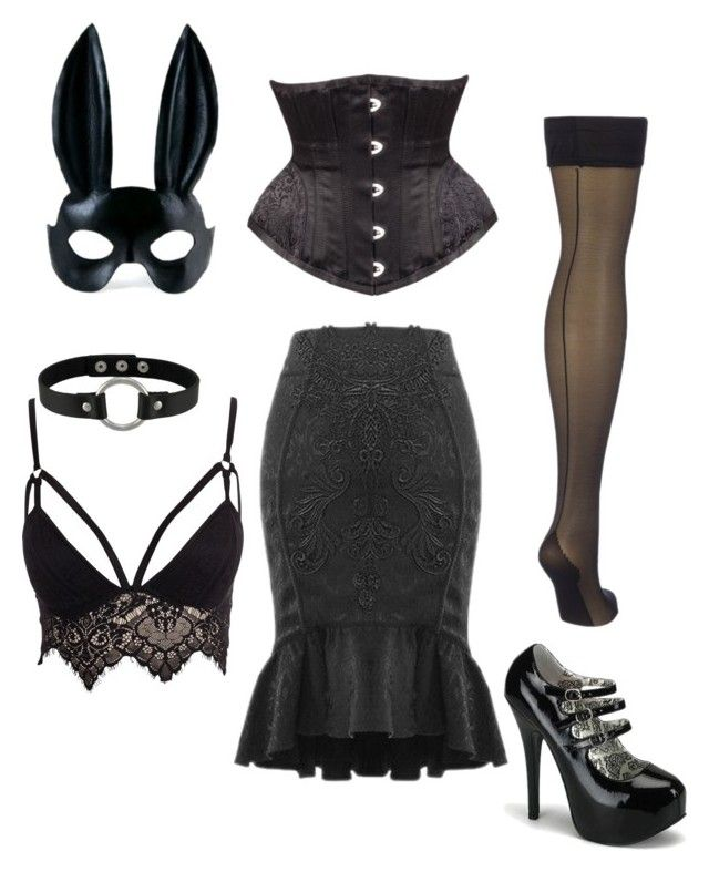 """NYE Masquerade"" by purchasedharpy on Polyvore featuring Bordello and Club L"