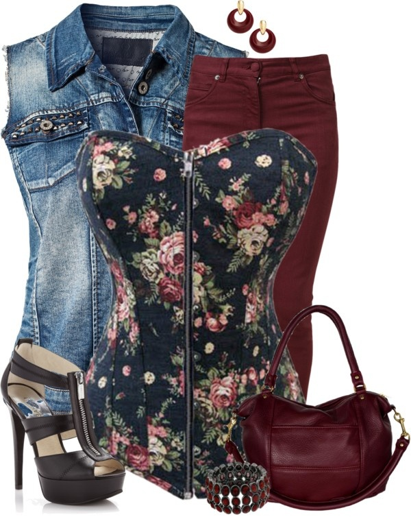 """""""Cinch It - Floral"""" by angiejane on Polyvore"""