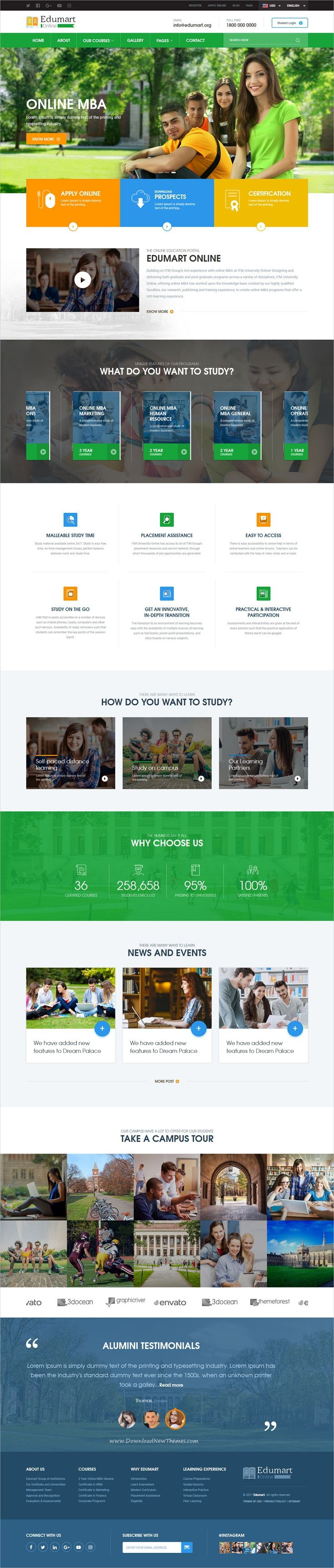 Edumart is clean and modern design responsive #bootstrap template for perfect #edtech #college, #school and university website download now..