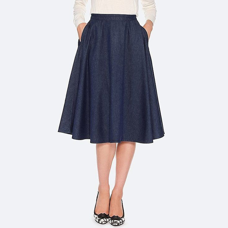 dd4c9534a Women cotton high-waist circular skirt | Fashion | Skirts, High ...