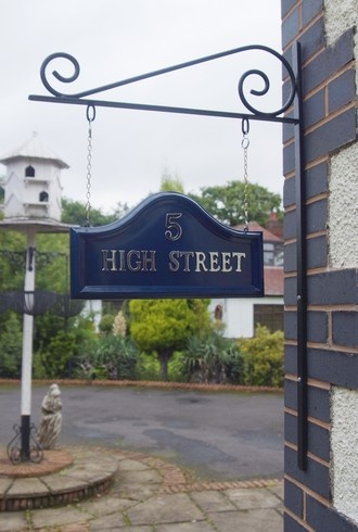 High Street House Name Signs plaques property names real estate