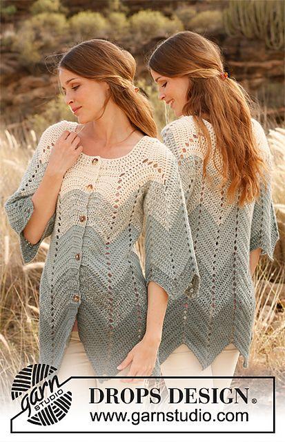 Ravelry: 147-10 Jacket with zig-zag pattern in 2 strands Alpaca pattern by DROPS design