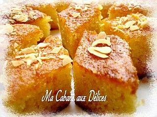 Basboussa ou gateau de semoule à l'orange | Ma cabane aux délices - Recettes de Cuisine algérienne, orientale et française