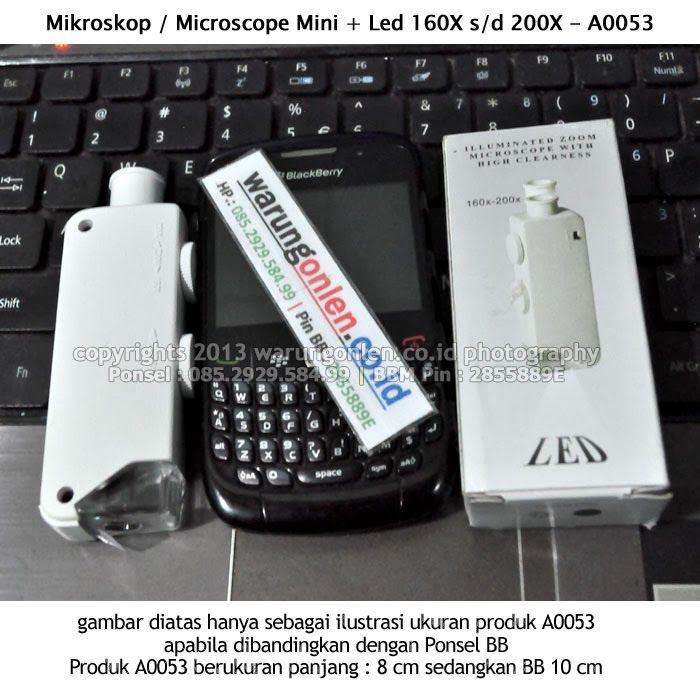 Nama Barang : Mikroskop / Microscope Mini + Led pembesaran : 160X s/d 200X | Kode SKU Barang : A0053 | Kode Aproval : V-A.001.y4zdgV | Kateg...