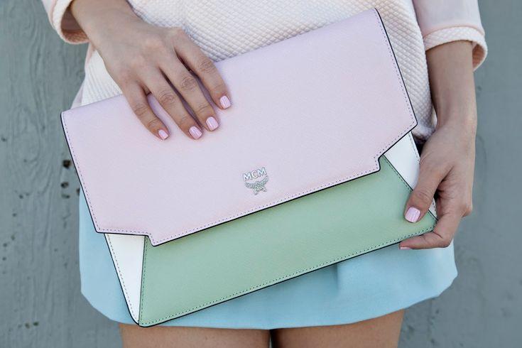 MCM pale pink bag