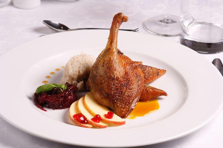 #Restauracja Zamek #Bobolice. Pieczona #kaczka / Bobolice Castle #Restaurant. Roasted #duck.