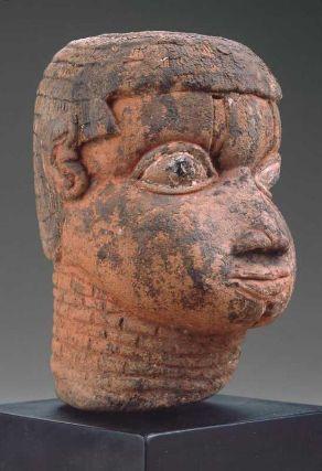 Head, African, Edo peoples, Nigeria, Benin kingdom, about 1750. Museum of Fine Arts, Boston.