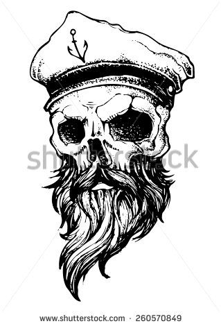 skull beard new school tattoos - Pesquisa Google