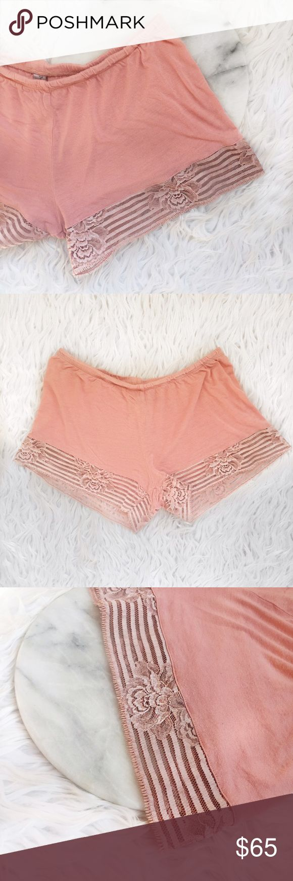 • La Perla • Lace Peach Shorts Adorable lace peach shorts, perfect to use as pajamas! Used condition. La Perla Shorts