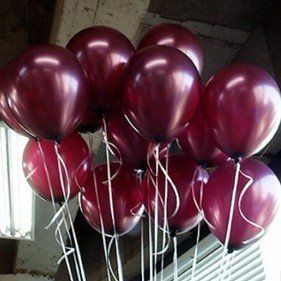 wine colored balloons