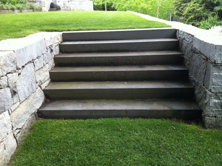 Monolithic Bluestone Steps In A More Finished Texture