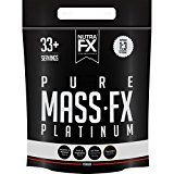 NUTRAFX Mass Gainer 10lb Delicious Chocolate Flavor Made From Pure Whey Protein Powder 520 Calories Per Serving Carbohydrates Source from Fruit and Vegetable 3:1 Protein to Carb Ratio