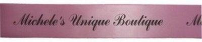 33 Yards of Custom Printed Satin Ribbon  -  Can be used for craft labels, too. $44.95, via Etsy.