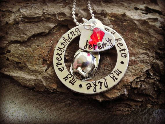 girlfriend images decor jewelry on wife gift firefighters proud best fire pinterest firefighter s mom necklace