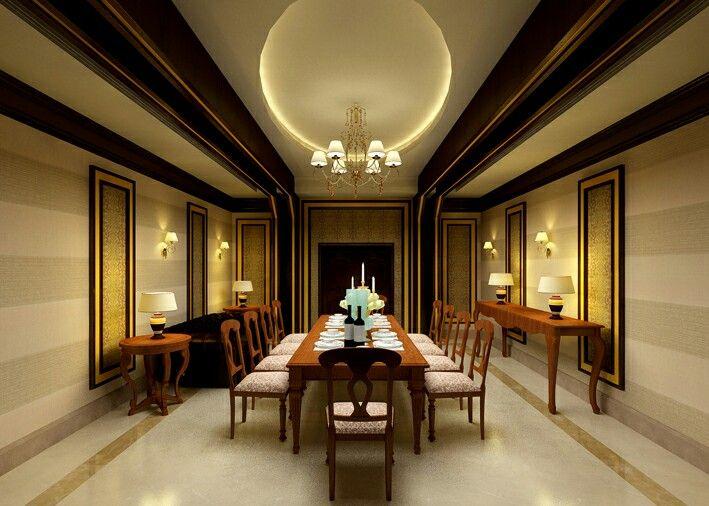 Villa interiors dining room design