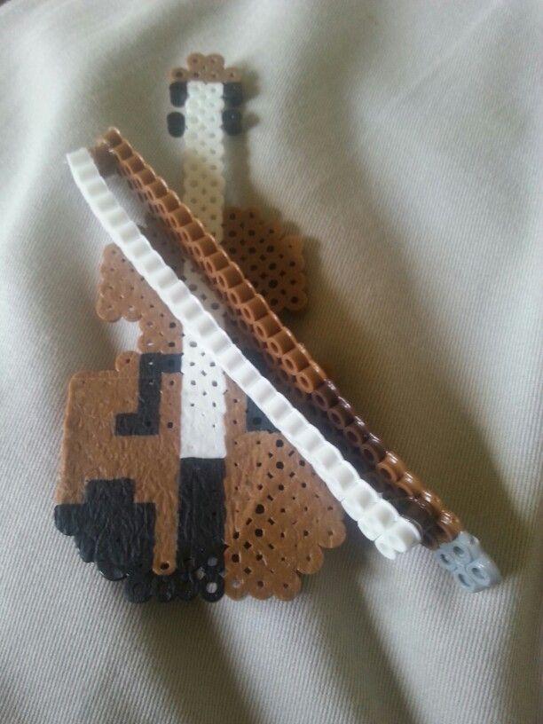 Violin. Perler bead style.