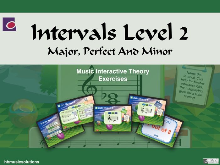 Intervals In Music - Level 2 Interactive Theory Activity.