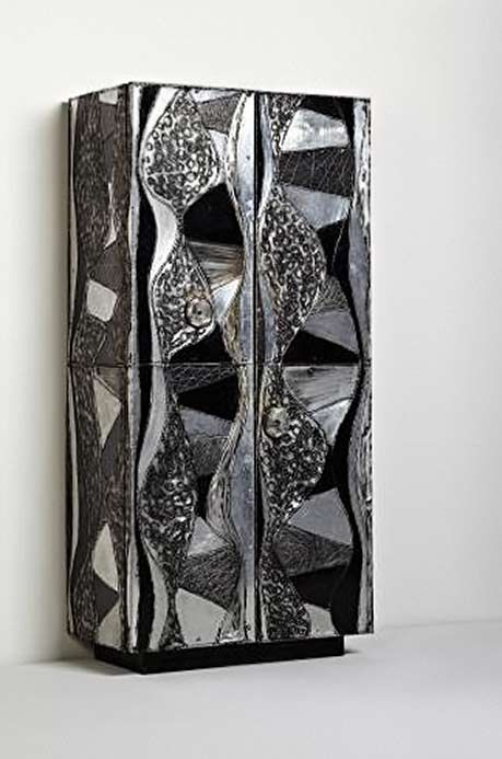 'Argente'-wardrobe,-1968---Paul-Evans-Welded,-painted,-sculpted-and-polished-aluminium,-slate,-painted-wood,-welded-and-patinated-steel