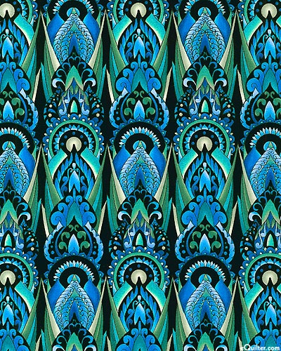 Deco - Tulip Flame - Ocean Blue I made a Stack 'n Whack quilt using this fabric...it turned out really well!
