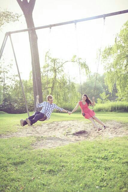 Cute couple picture on the swings:)