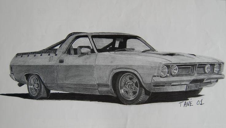 E Car >> XB Falcon Ute | Car Drawings | Pinterest | Ute, Falcons and Car drawings