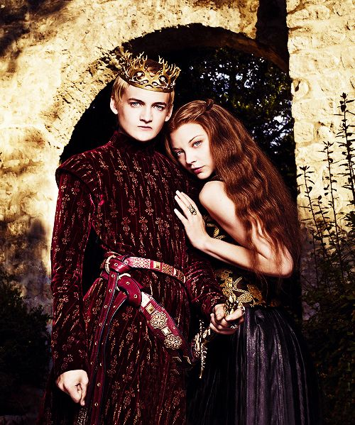 Jack Gleeson; Natalie Dormer for Entertainment Weekly  #have we reached that time of year where they release new things every day and i have to stop sleeping#like it's a monsoon of new material after a deadly drought The most apt description of GoT marketing and promos ever.