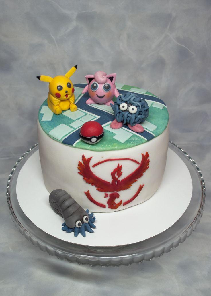Dort pro malé milovníky hry Pokemon Go. Pokemon Go Cake.