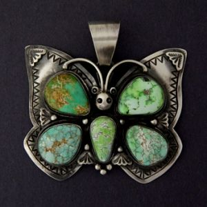 Carico Lake Turquoise Butterfly Pendant