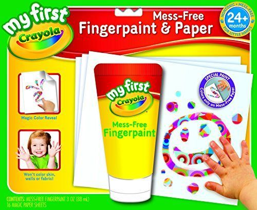 This is great for toddlers first learning to finger painting. very fun and only works on the paper provided and its a fun little thing to do with your little toddler so colorful and cute my daughter absolutely loves doing this together she has so much ...