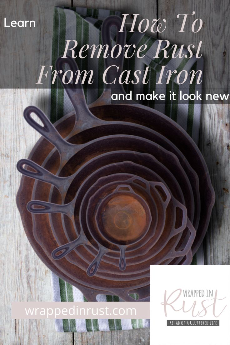 How to remove rust from cast iron and restore it wrapped