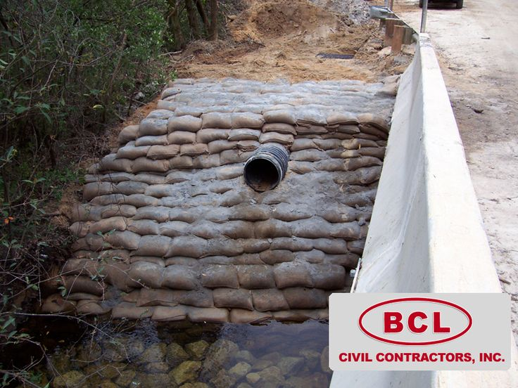 Concrete Bag Retaining Wall | BCL CIVIL CONTRACTORS, INC ...
