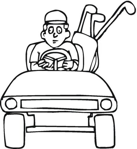 8 Disney And Realistic Themed Golf Coloring Pages For Kids With