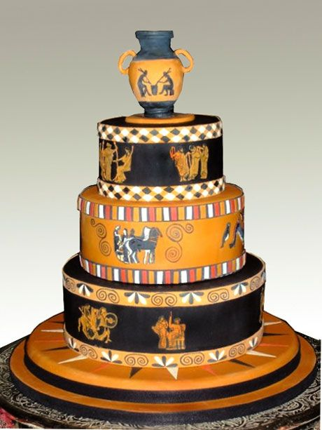 97 best images about archaeology have your cake and eat for Ancient greek decoration ideas