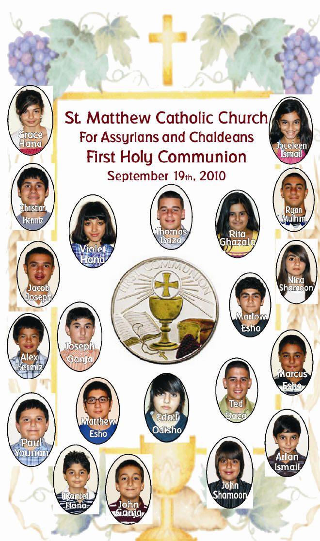 First Communion Celebration at St. Matthew Catholic Church, Ceres-CA
