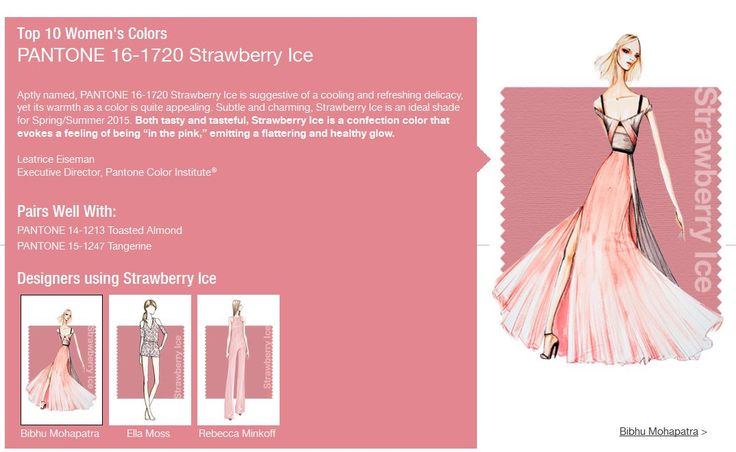 "Subtle and charming, Strawberry Ice is an ideal shade for Spring/Summer 2015. Both tasty and tasteful, Strawberry Ice is a confection color that evokes a feeling of being ""in the pink,"" emitting a flattering and healthy glow."