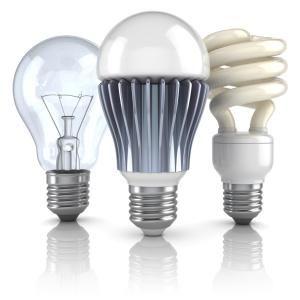 Comparación de focos incandescentes, fluorescentes y led