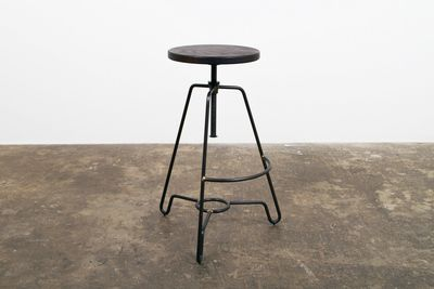 Briggs Counter Height Adjustable Stool with Seared Oak and Black Steel by Nuevo - HGDA332