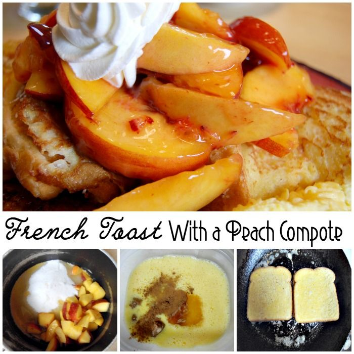 This French Toast with a Peach Compote is sweet, and crunchy. It's like the breakfast version of peach cobbler. And, bro, who doesn't love Peach Cobbler?