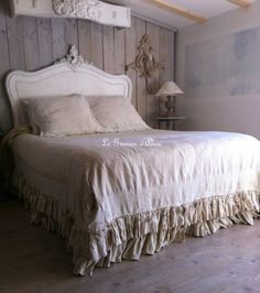 Dreamy cotton, lace and ruffled bedding