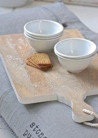 HK Living Broodplank rechthoek wit - Medium | Keuken | Label 123