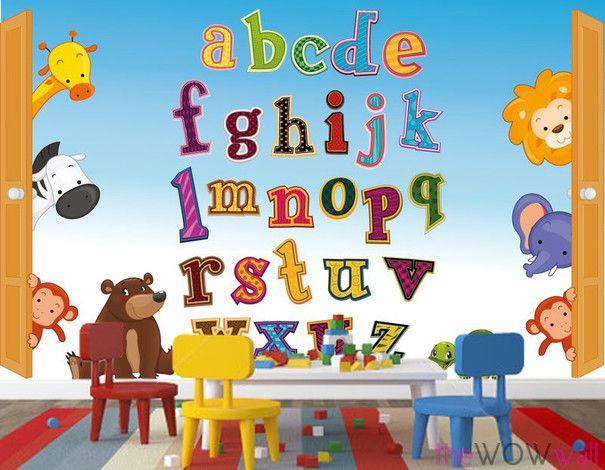 Alphabet Wallpaper Mural - ABC Wall Mural