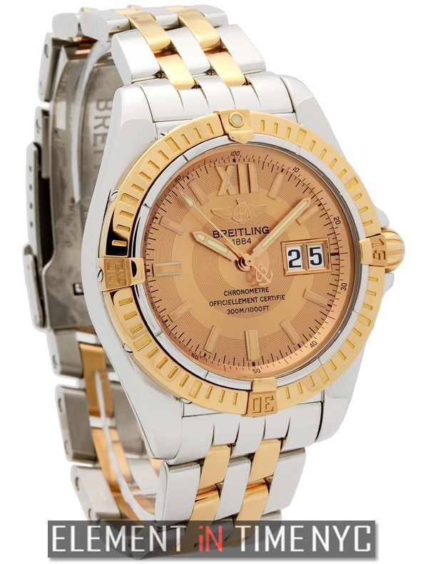 #Breitling Galactic 41  Stainless Steel & 18k Rose Gold 41mm Salmon Dial C49350 - iN Stock ($5,755.00)