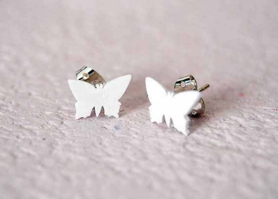 #handmade #white #butterflies #postearrings #shrinkplastic #earrings #jewelry #etsy #etsyitaliateam #madeinitaly