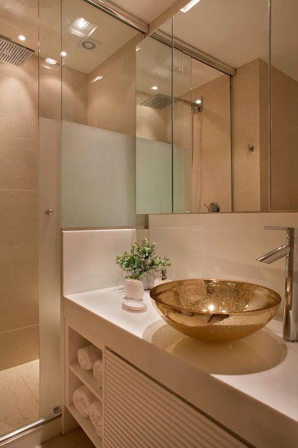 15+ melhores ideias sobre Gabinetes De Banheiro no Pinterest  Armários de ba -> Banheiro Decorado Pequeno Apartamento