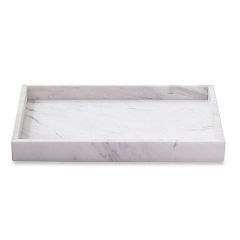 Bring the sophistication and luxurious look of a fine hotel to your bathroom décor with the elegant Camarillo Marble Vanity Tray. Beautifully crafted of genuine marble, the design of this superb piece is one of durability and refinement.