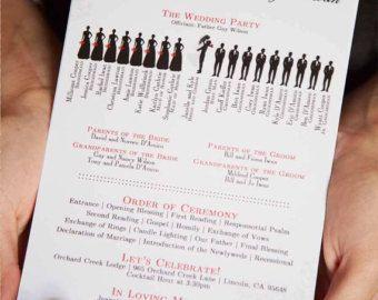 funny wedding program templates