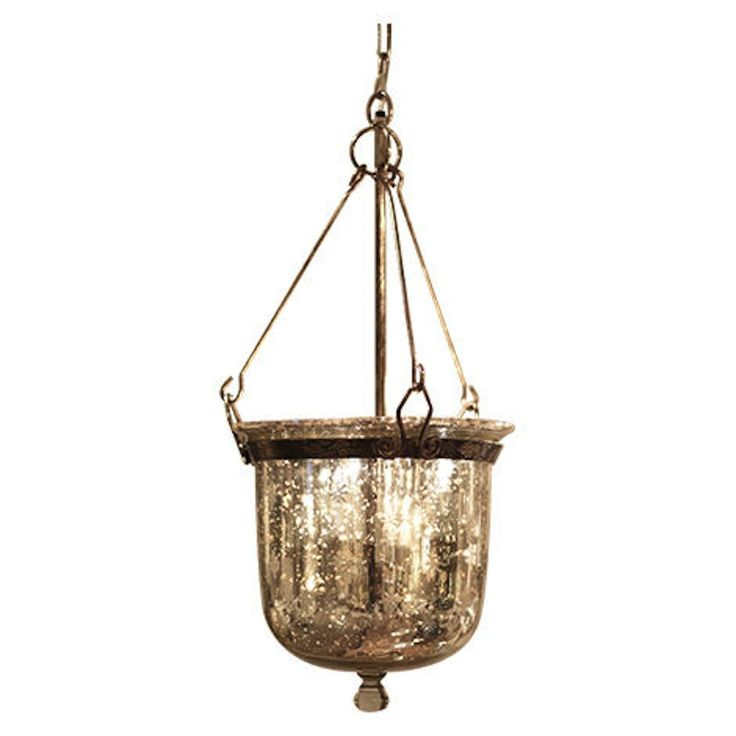 This Bell Shaped Beauty Illuminates The Distinct Eal Of Antique Lighting Finished In An Antiqued Silver And Faux Mercury Glass It Delivers A