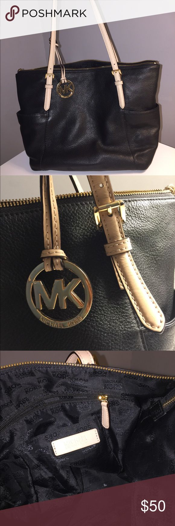Michale Kors Black Purse Black MK purse, everything is in good condition. Minor damge on the handle, but everything is good! Bags